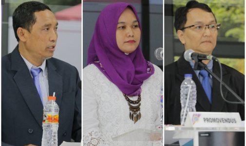 Tiga Doktor Baru Peserta Wisuda Periode Juni 2018