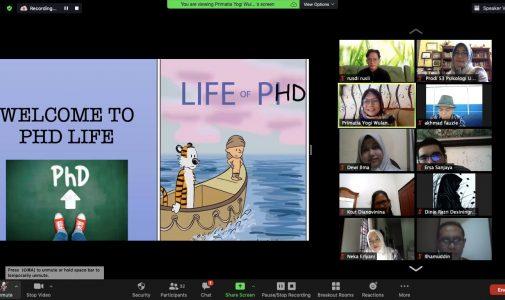 Penerimaan Mahasiswa Baru 2020 dan Shared Learning Penyesuaian Proses Belajar pada Jenjang Doktoral